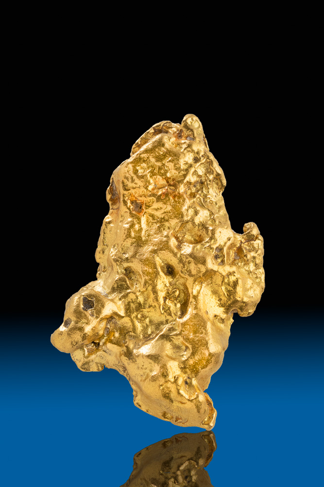 Brilliant and Large Natural Alaska Gold Nugget - 65.9 grams