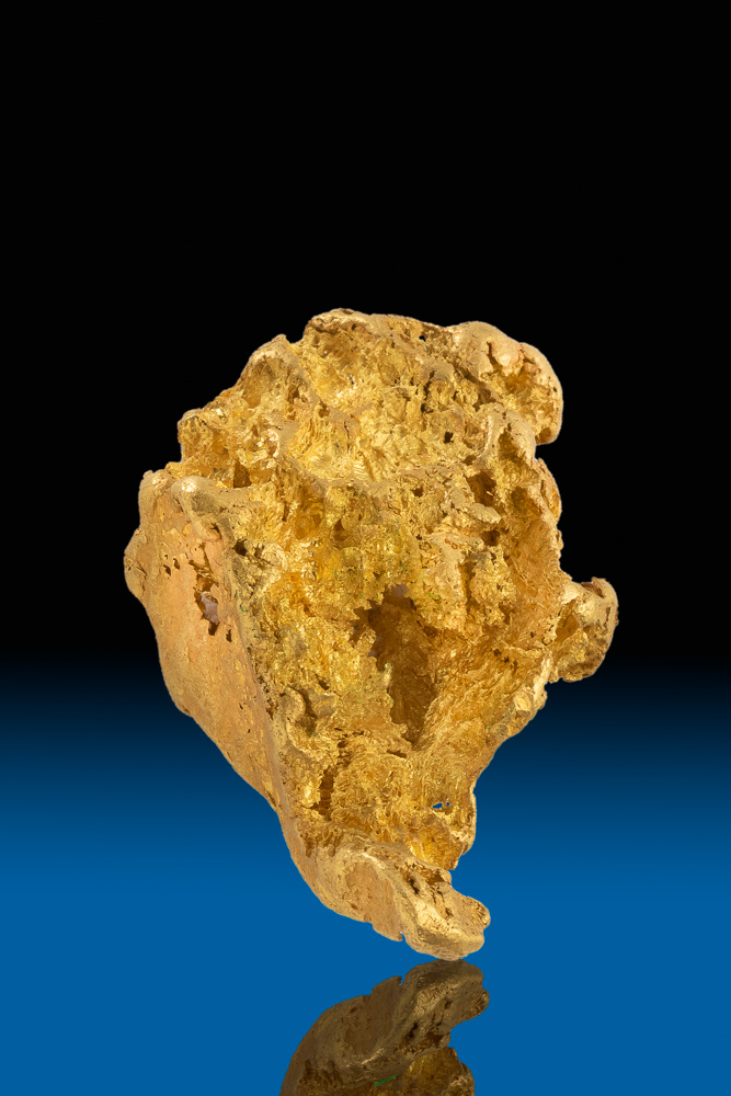 Textured and Tapered Natural Yukon Gold Nugget - 22.07