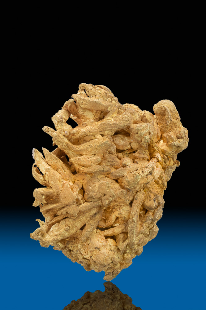 Dense and Heavy - Unusual Wire Gold Nugget Specimen - Round Mtn.