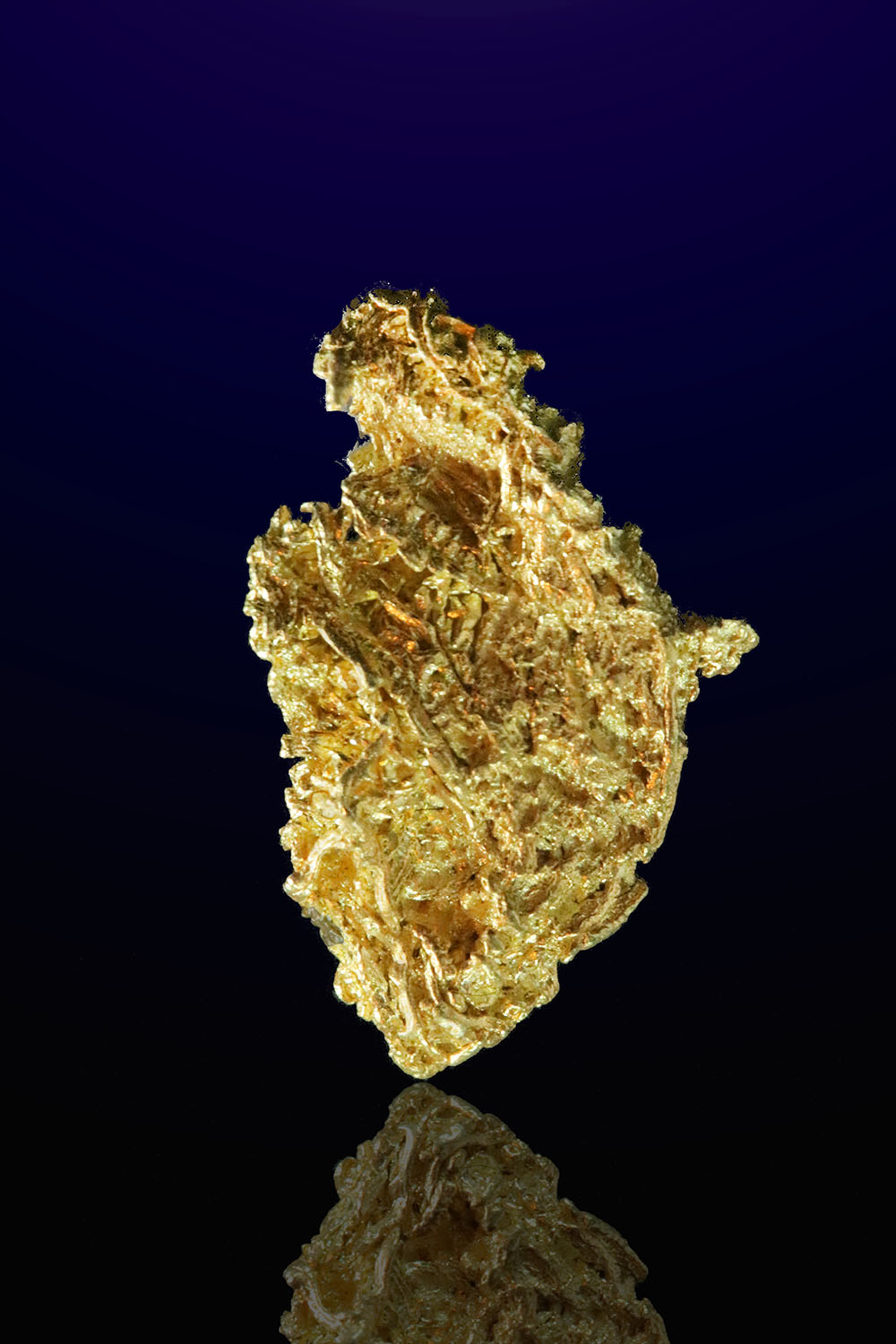 Tappered Wire gold Nugget from the Liberty Gold Mine