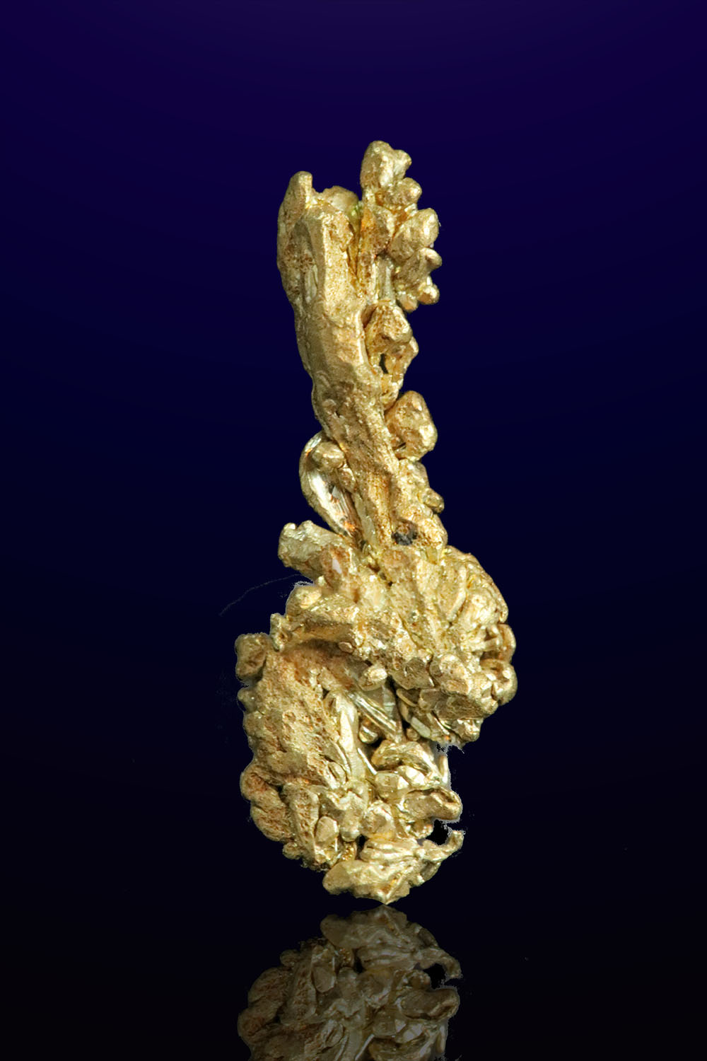 Elongated Twisted Natural Gold Crystal - Mt. Kare, PNG
