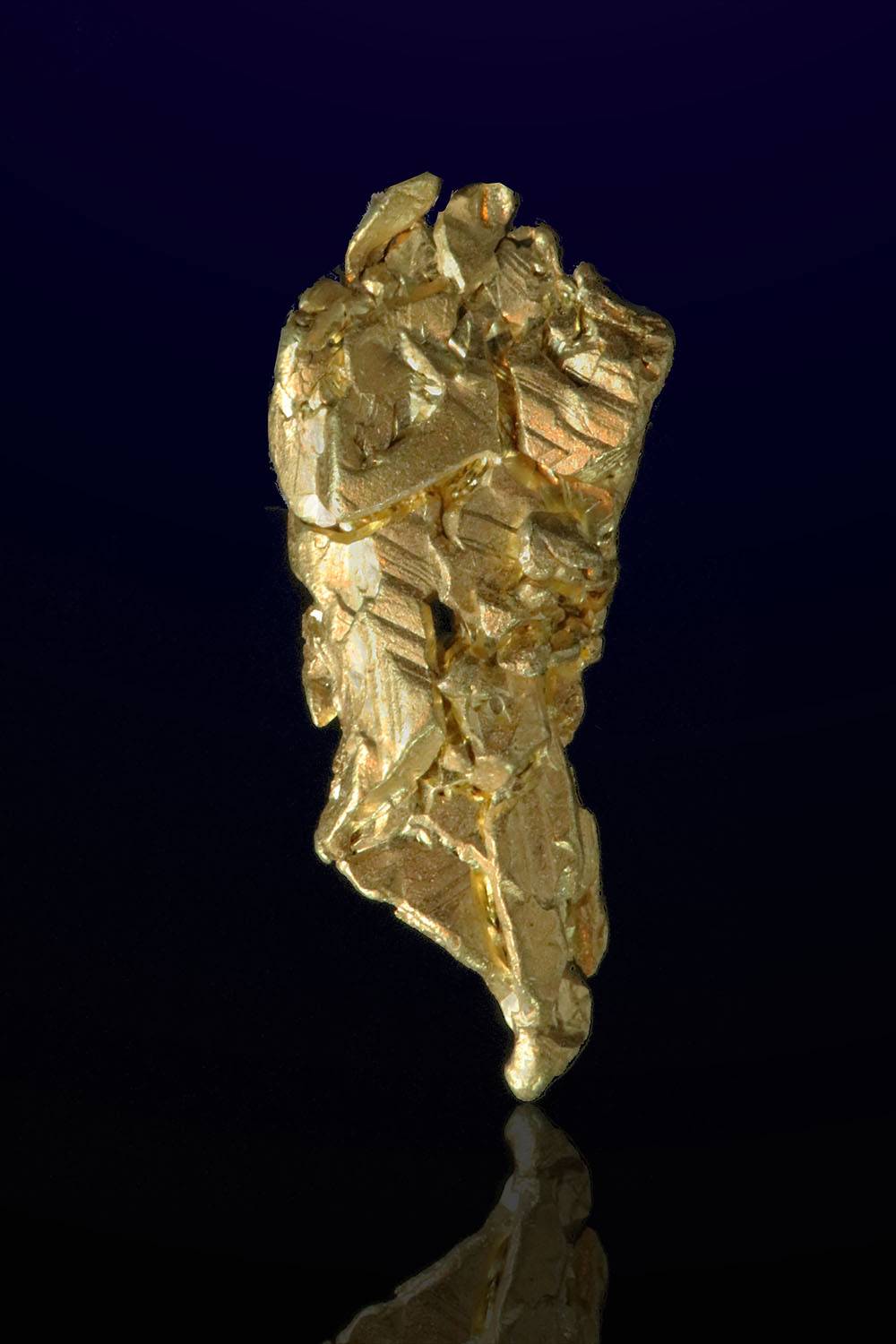 Faceted Tapered Natural Gold Crystal - Mt. Kare, PNG