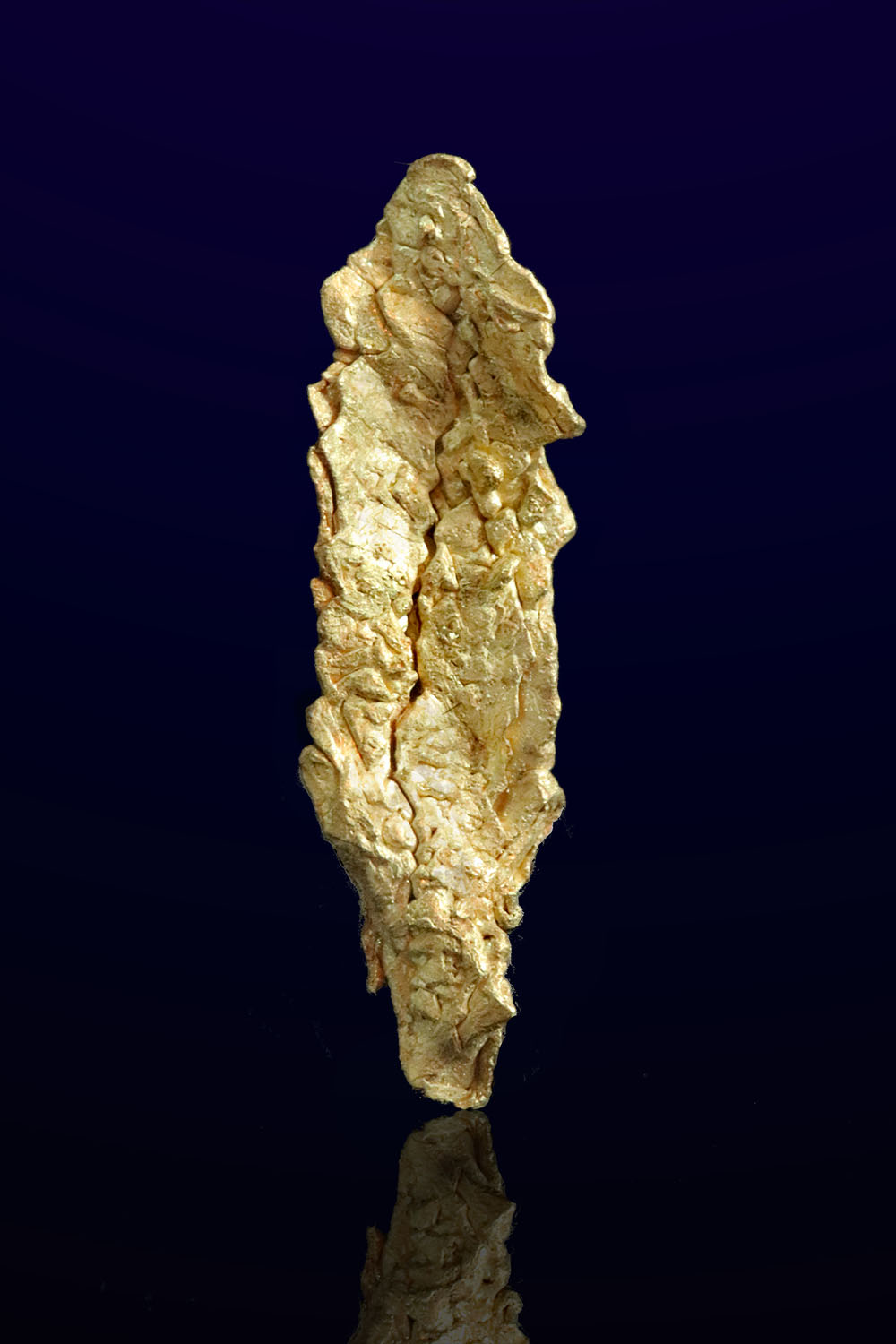 Long Feather Shaped Gold Crystal from Mt. kare, Papua New Guinea