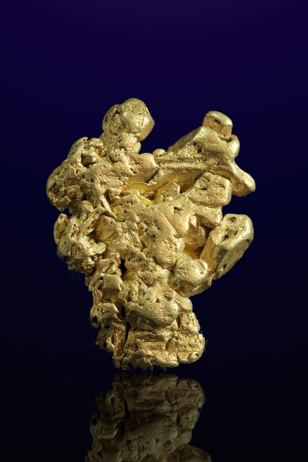 Natural Crusty Rounded Gold Crystal Formation - Mt. Kare, PNG