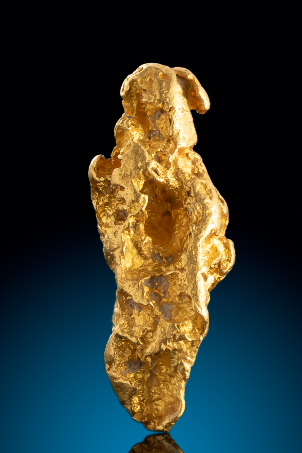 Elongated Textured Natural Gold Nugget from Alaska