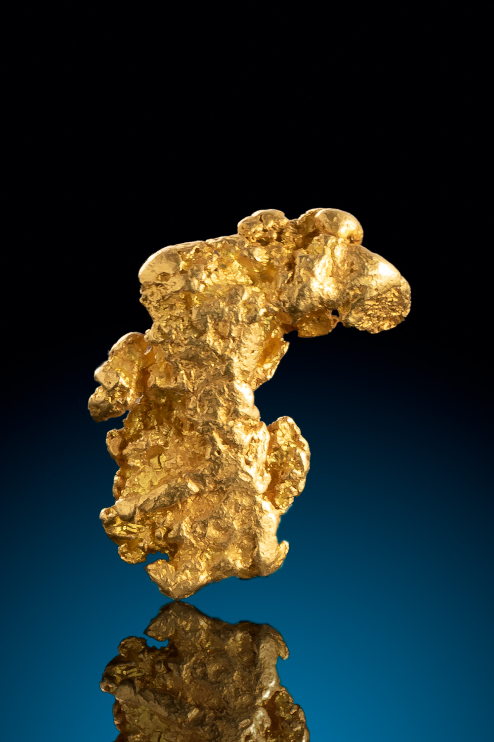 Curved and Textured - Native Alaskan Gold Nugget
