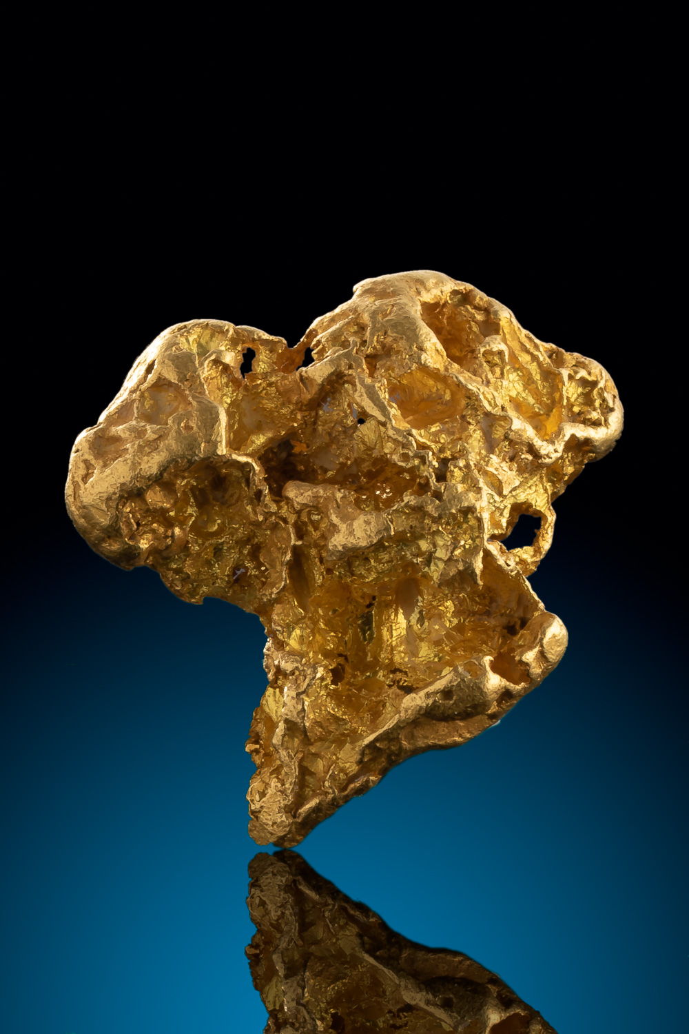 Intricate Tapered Large Gold Nugget from Alaska
