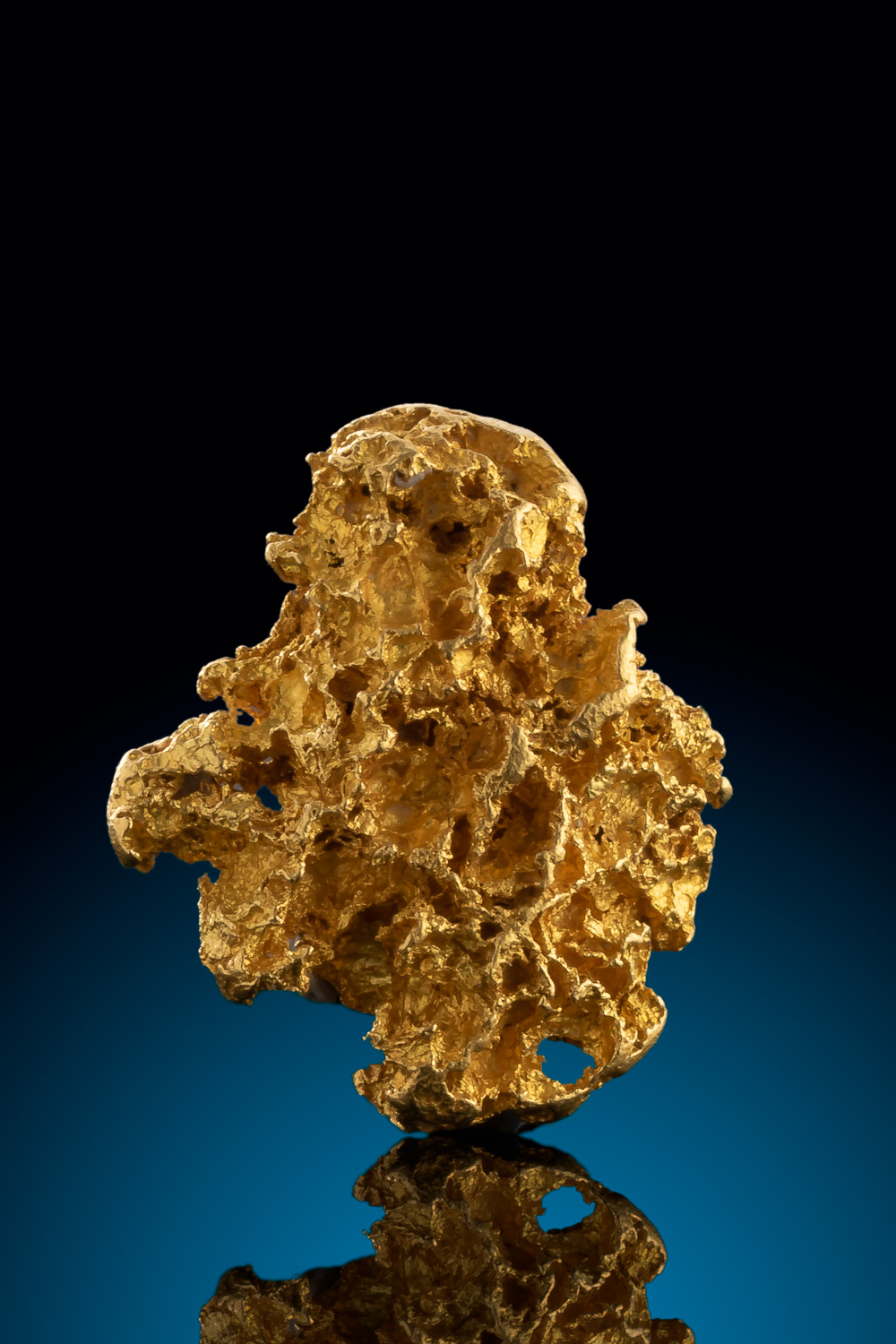 Detailed Alaskan Gold Nugget with Striations on the surface