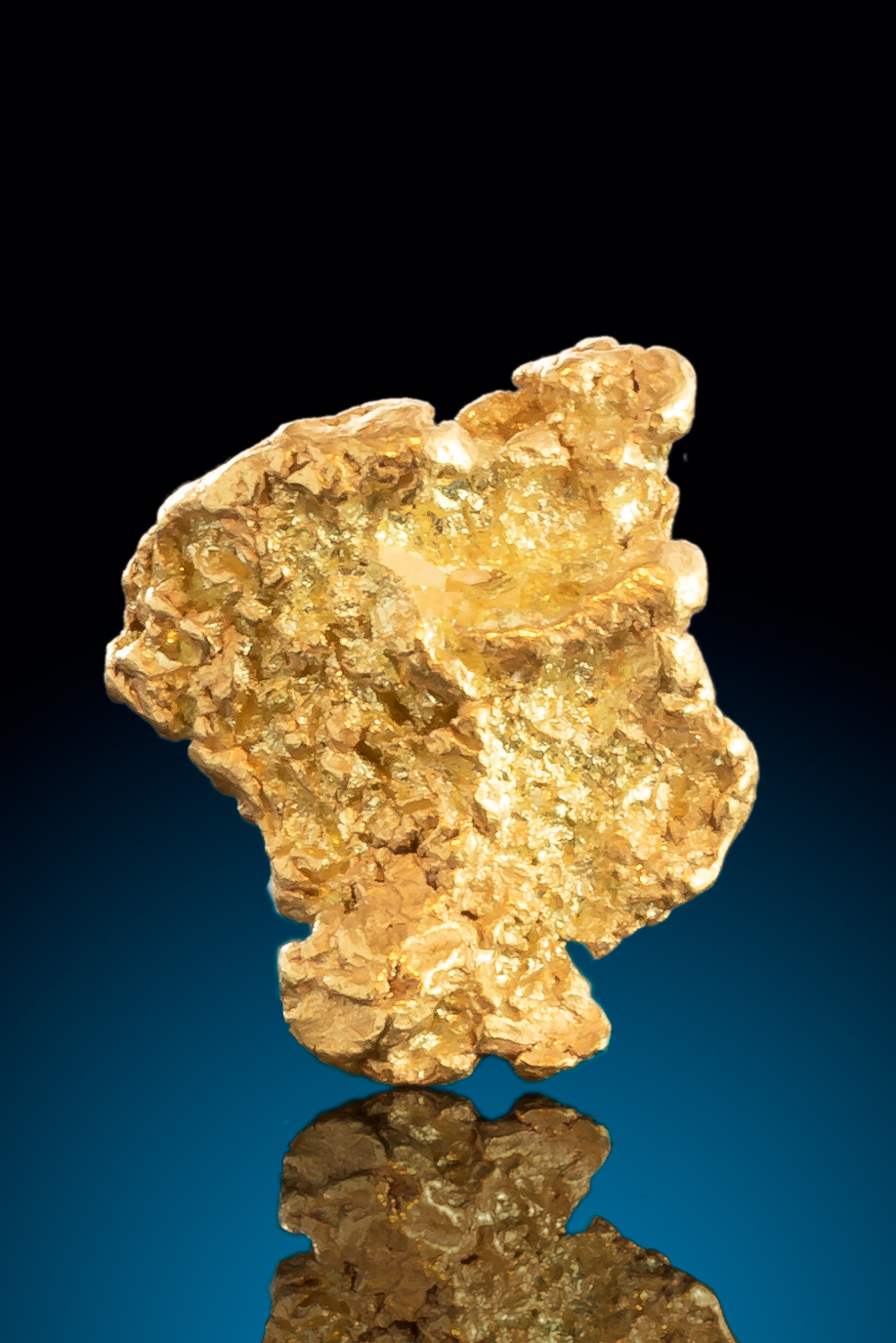 Textured with deep crevasses - Natural Gold Nugget from Alaska - Click Image to Close