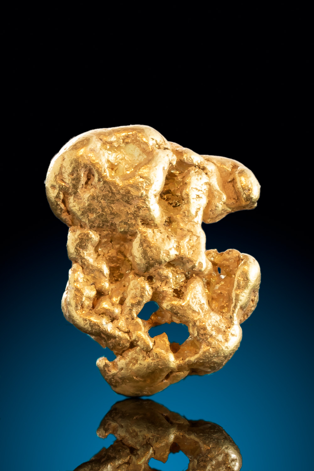 Intricate Form - Smooth and Detailed Natural Alaskan Gold Nugget