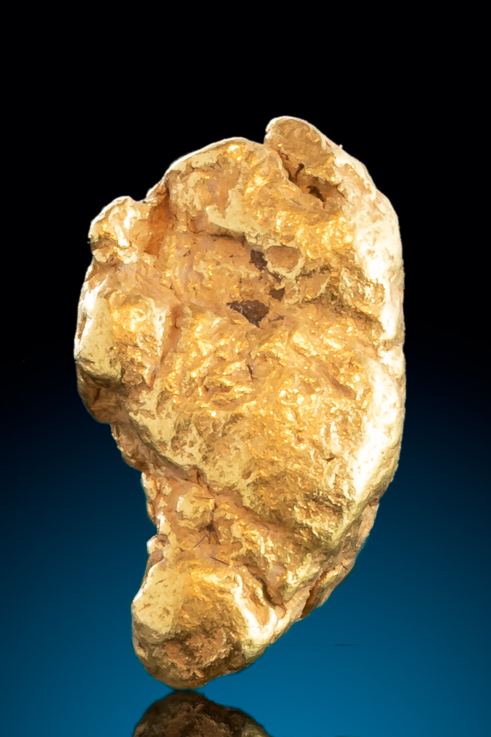 Fantastic Shape - Tapered Natural Gold Nugget from Alaska