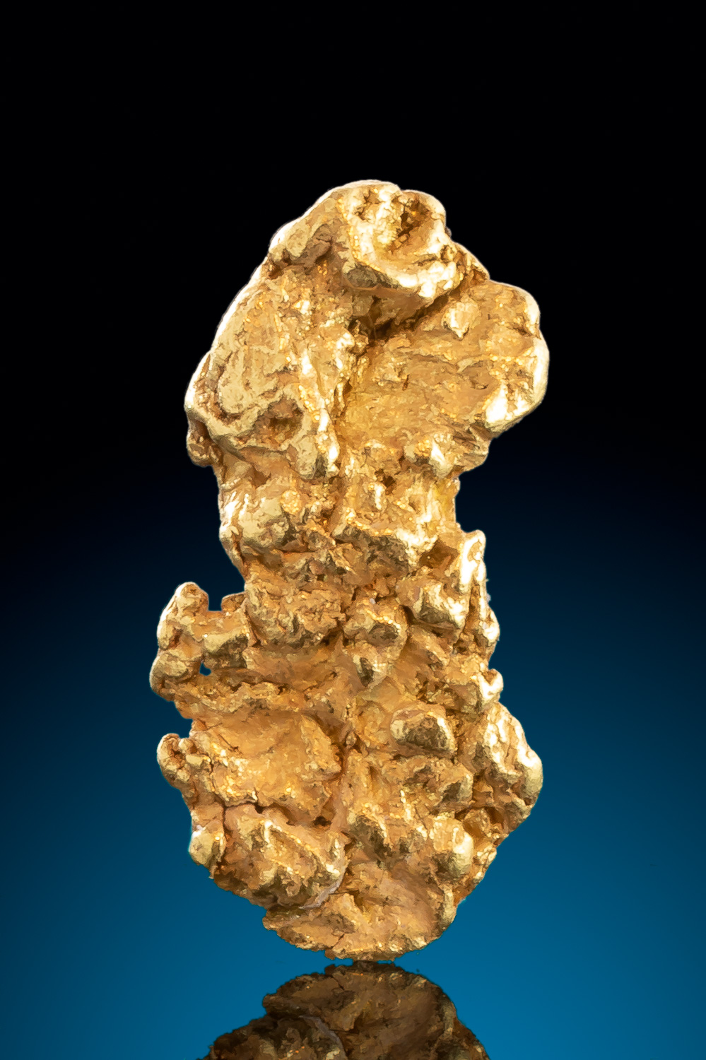 Beautiful Elongated Natural Alaskan Gold Nugget