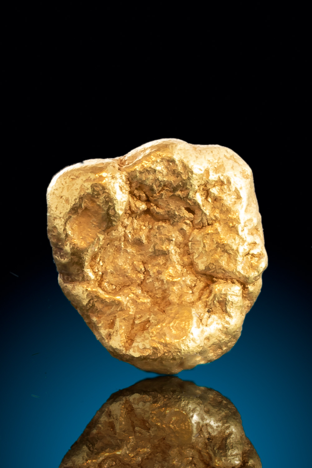 Beautiful Natural Rounded Gold Nugget from Alaska