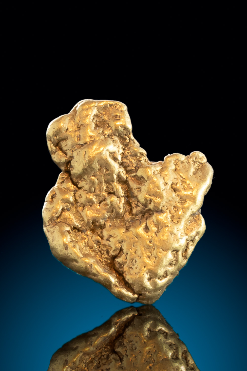 Folded Natural Leaf Gold Nugget From Alaska