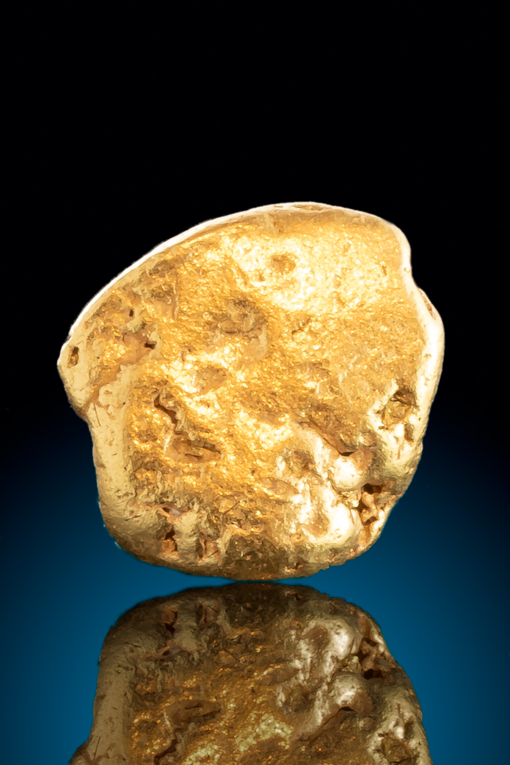 "Round ""Coin Shape"" Gold Nugget from Alaska"