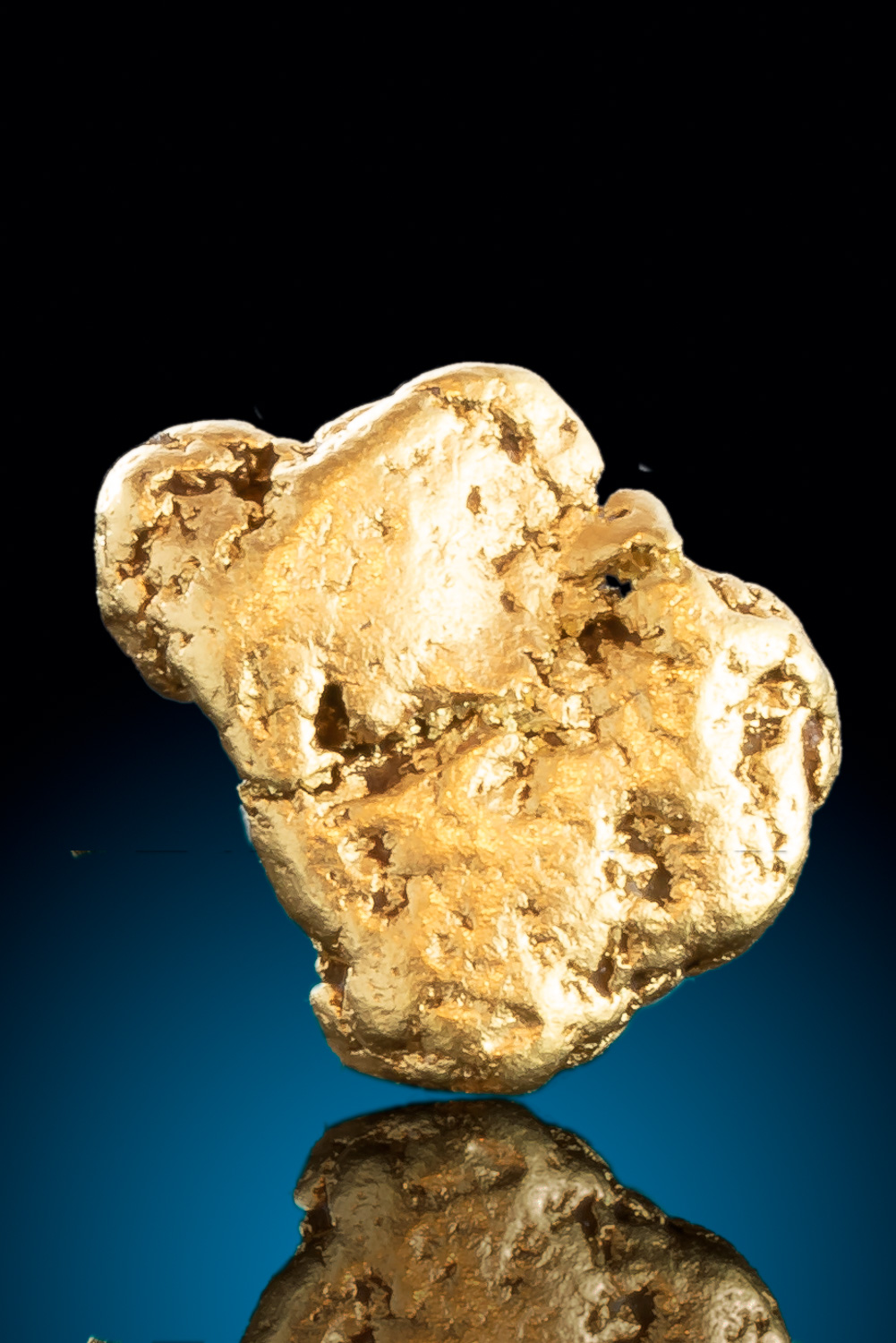 Dense Natural Gold Nugget from Alaska