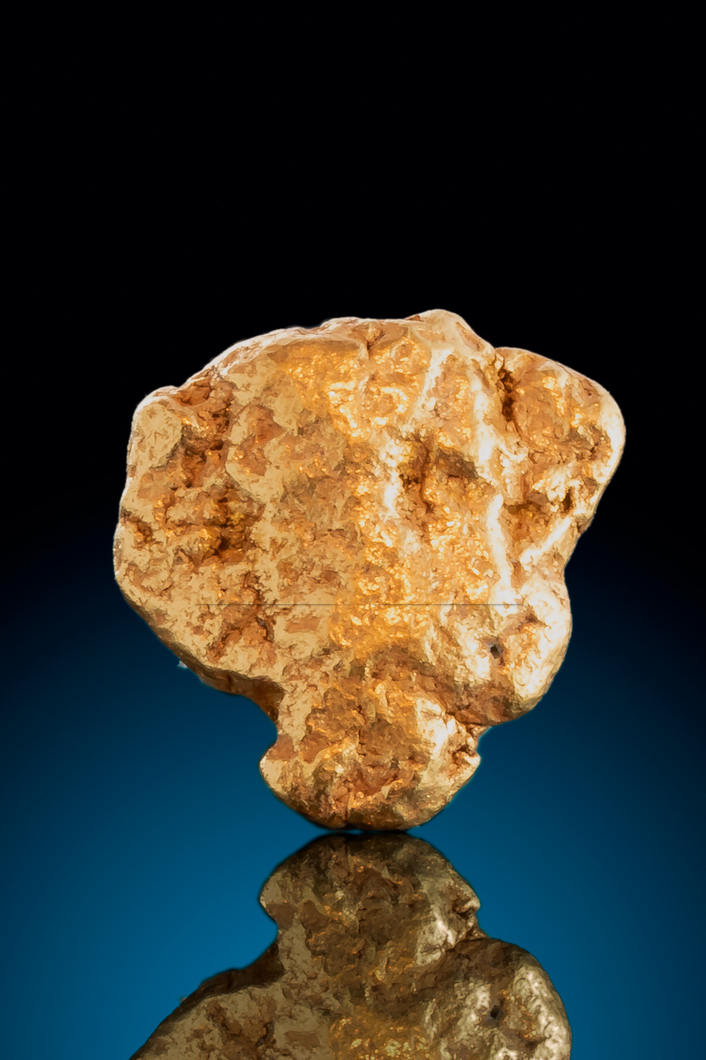 Beautiful Textured and Rounded Gold Nugget from Alaska