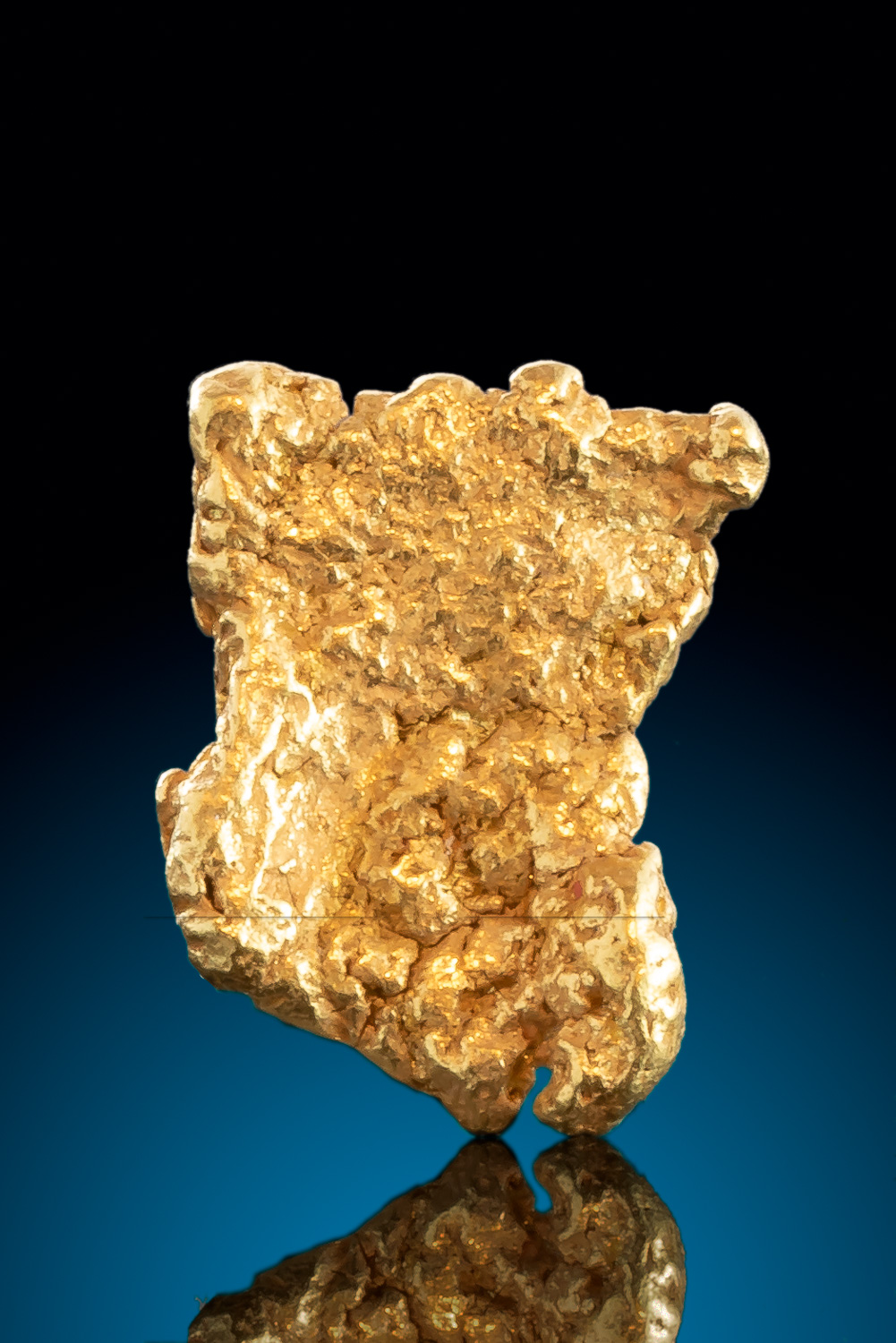 Flat Rectangular Natural Gold Nugget from Alaska
