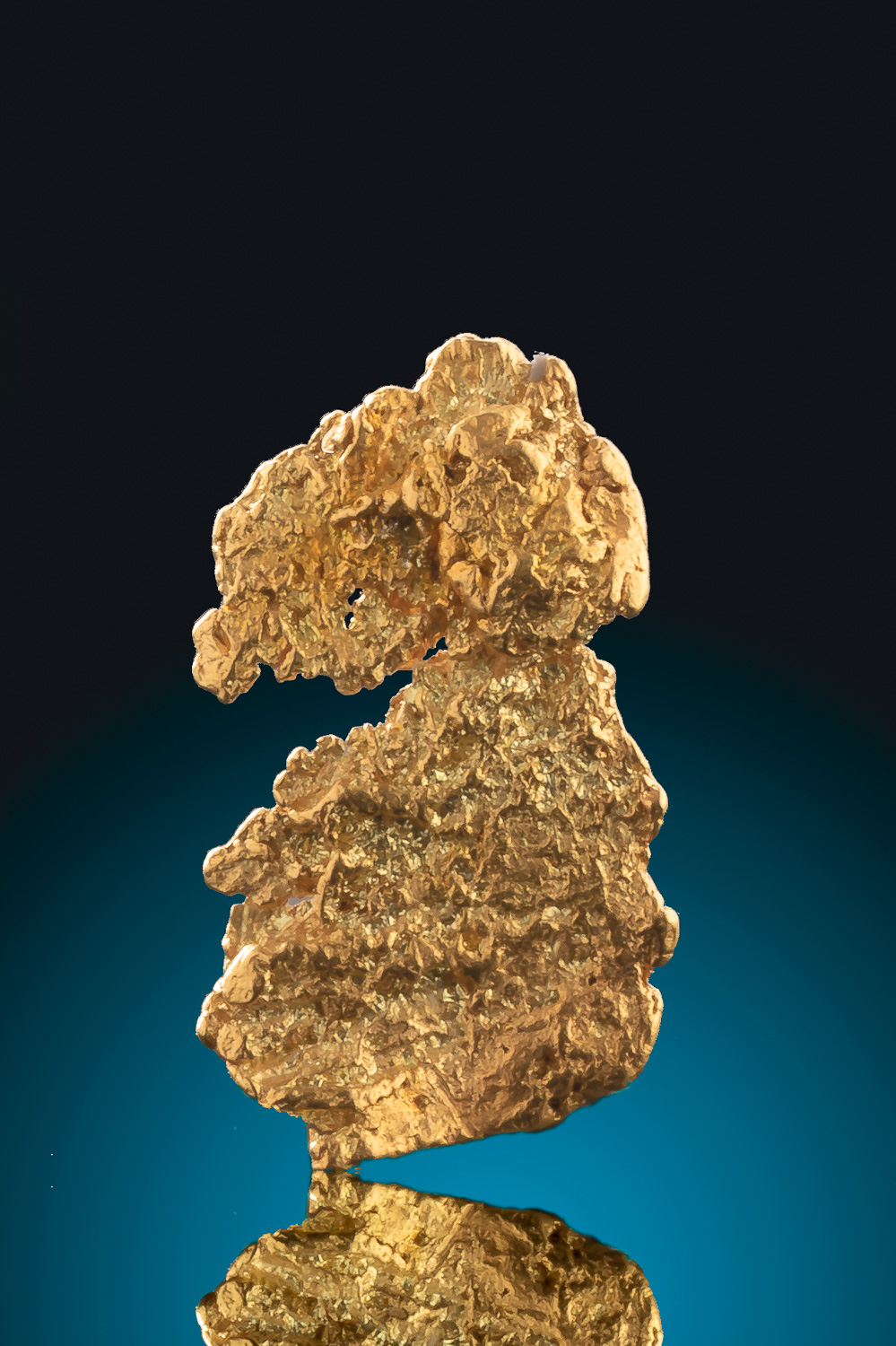 Intricate Natural Leaf Gold Nugget from Alaska