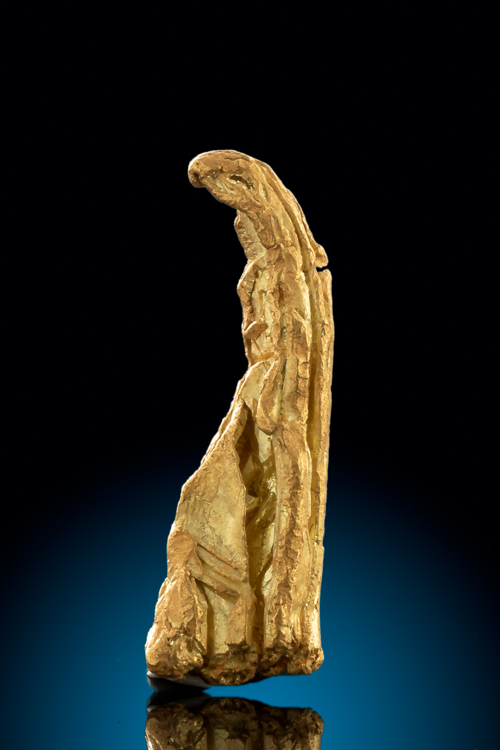 Rare - Long and Striated Gold Nugget from Alaska