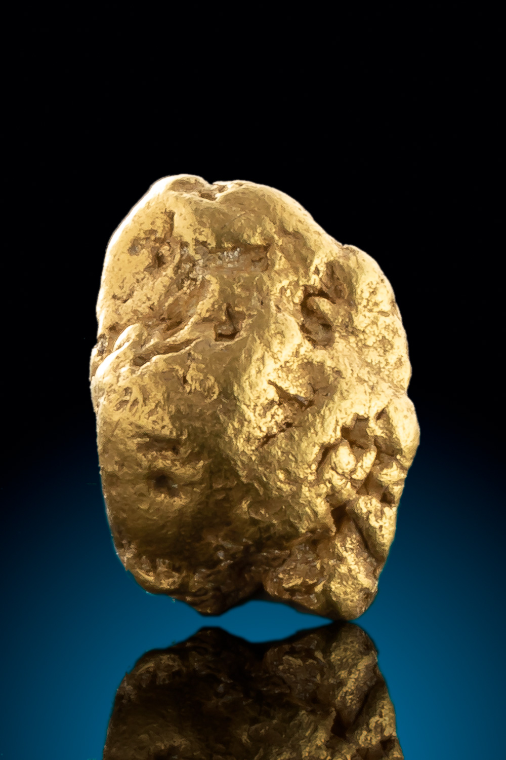 Dense and smooth Gold Nugget from Alaska