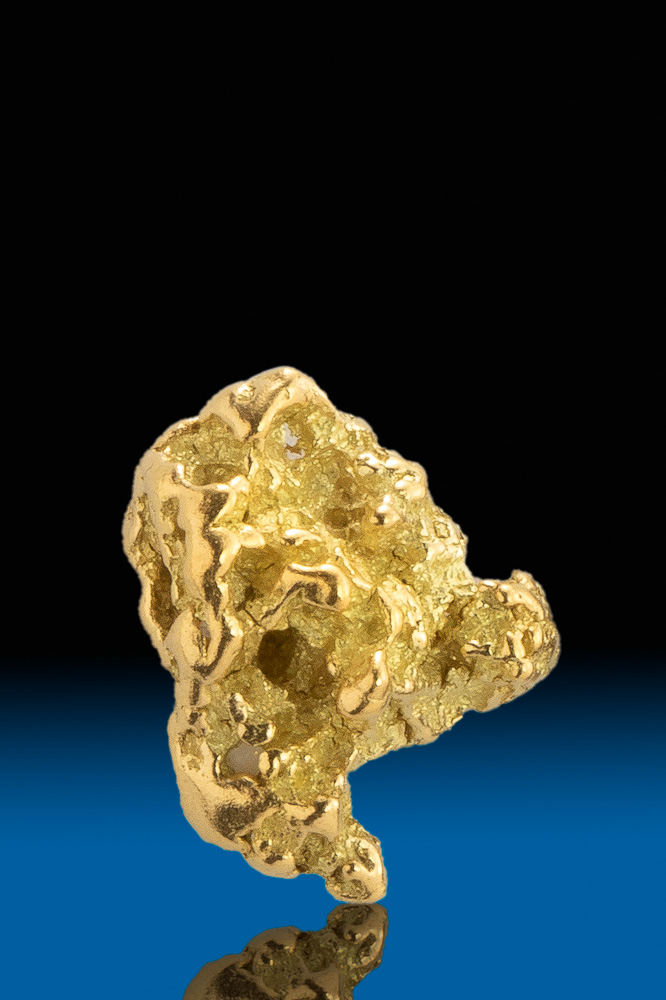 Crusty and tapered Natural Gold Nugget from California