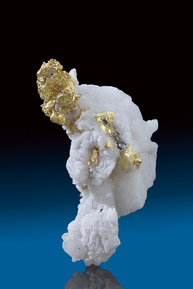 Beautiful Sharp Gold in White Quartz from the Oriental Mine