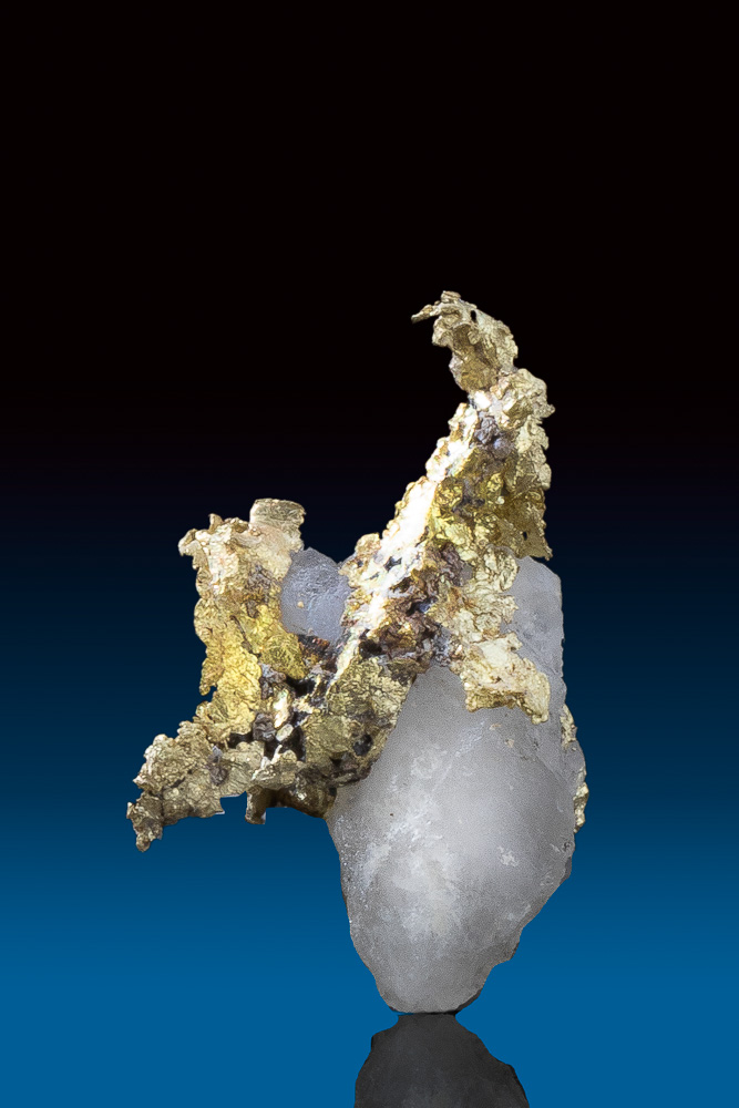 Beautifully Detailed Rare Gold in White Quartz from California