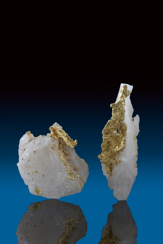Two Rare Gold in Quartz Specimens from Oriental Mine