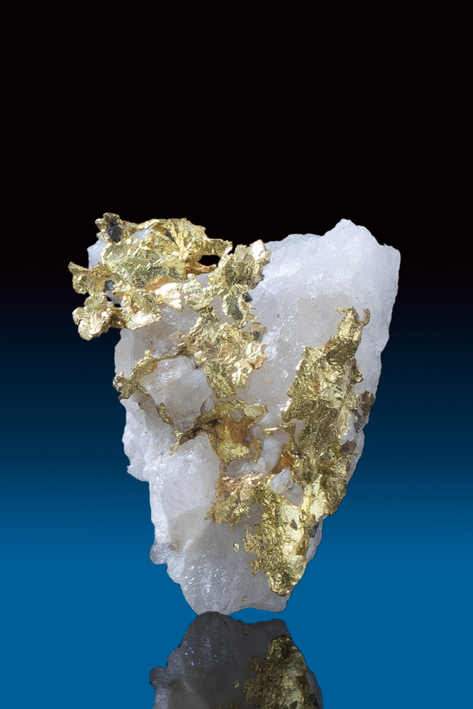 Beautiful Tapered Gold in Quartz Specimen - California