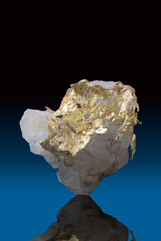 Brilliant Lacy Gold in Quartz Specimen from California