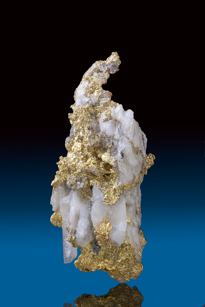 Long Textured Natural Gold in Quartz Specimen - Allegheny