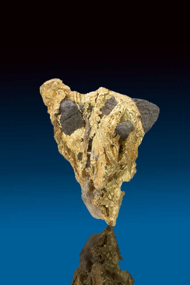 Sharp Tapered Crystallized Gold and Arsenopyrite - Allegheny
