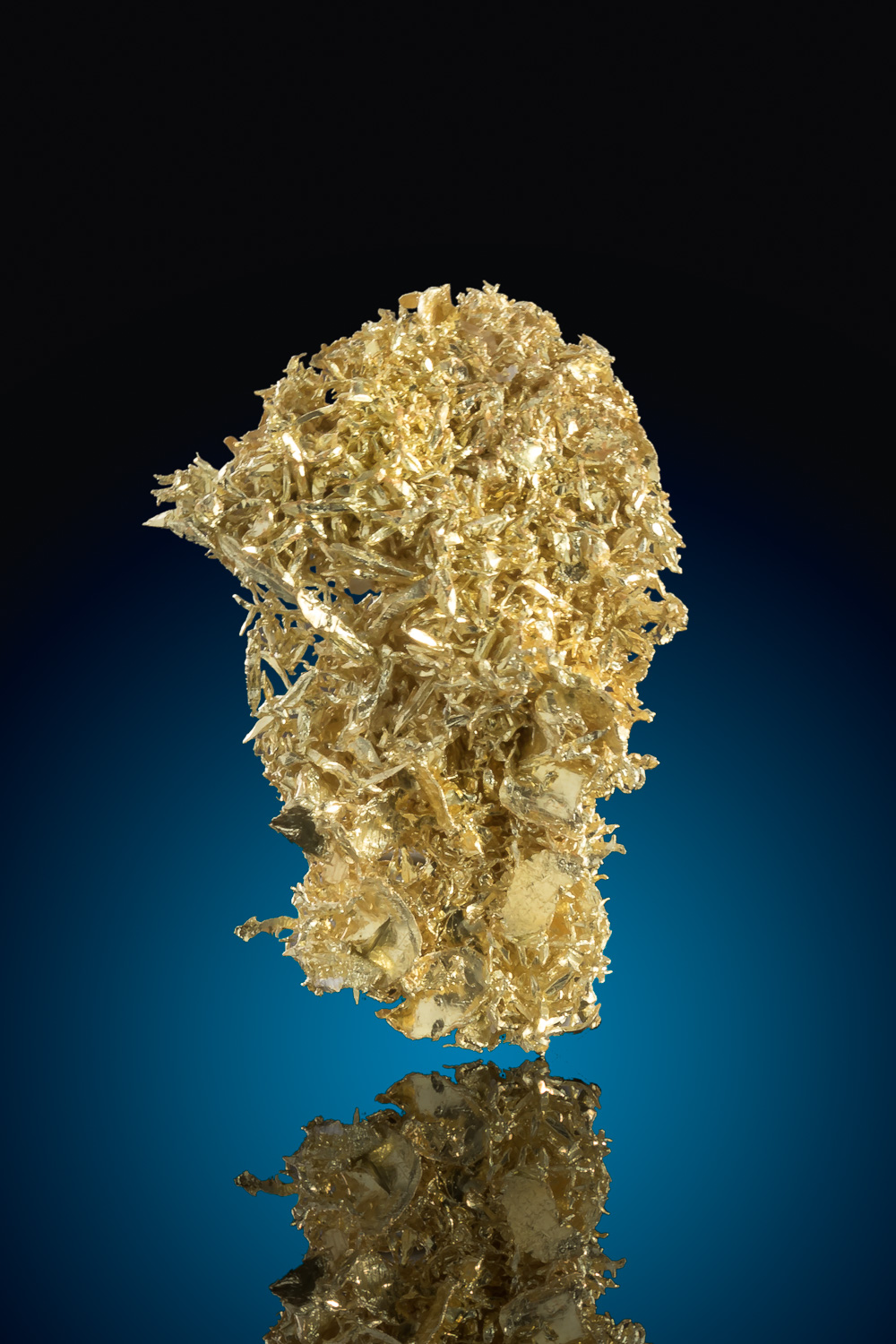 Brilliant Wire Gold Cluster - Olinghouse Gold Mine - Nevada