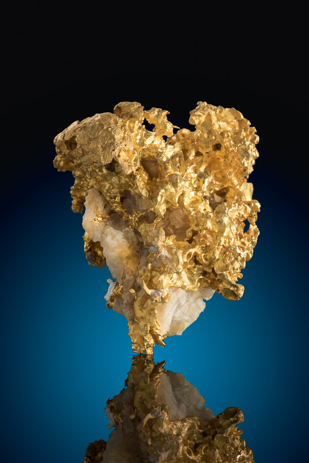 Brilliant - Brazil Gold and Quartz Specimen
