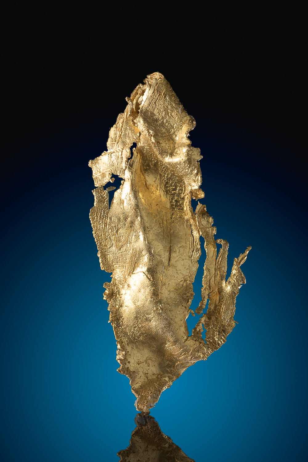 Intricate Buttery Gold - Leaf Gold Crystal Specimen