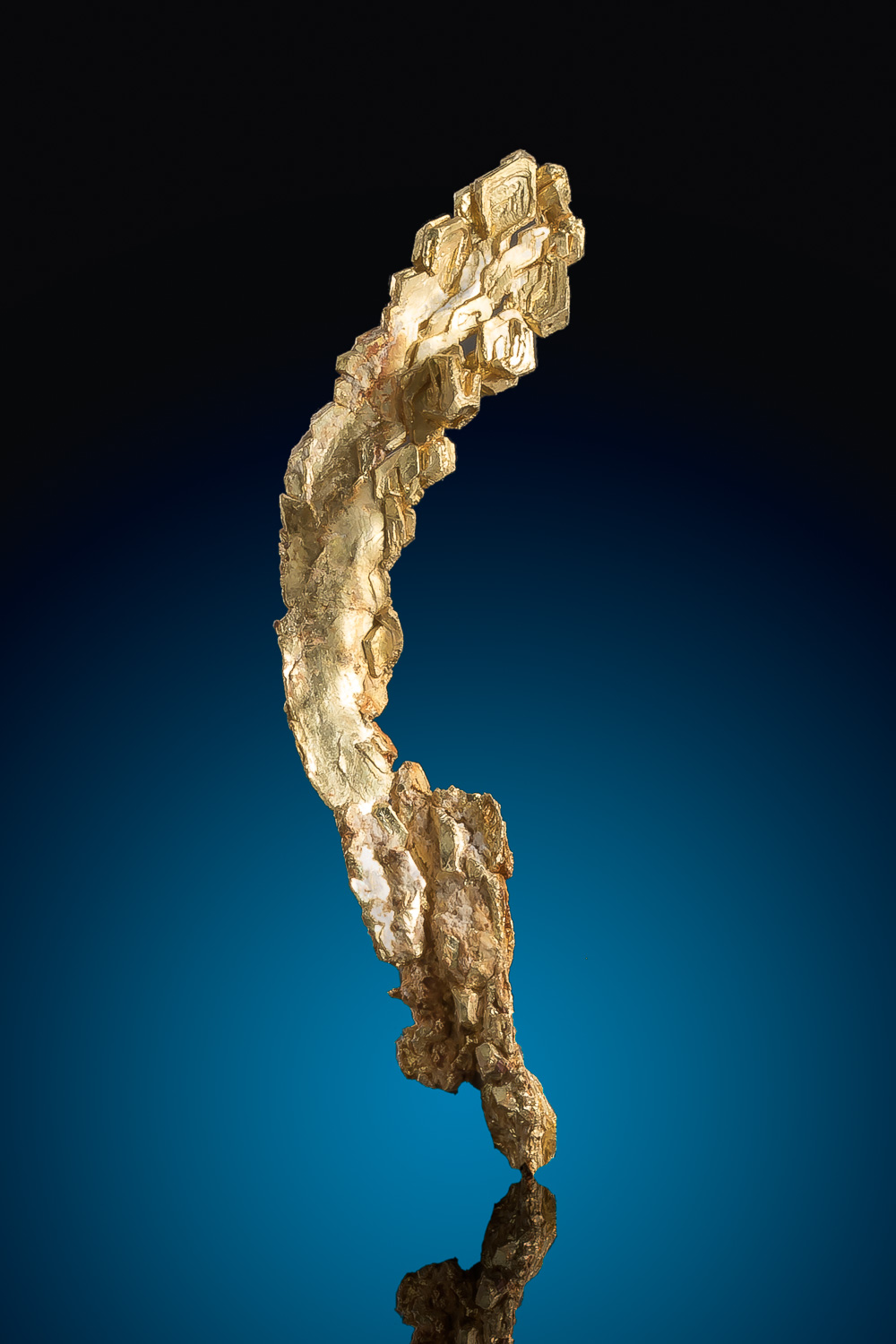 Magnificent Hoppered Trigon Crystals - Elongated Gold Crystal