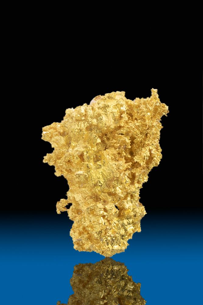 Brilliant Crystalline Gold Nugget - Allegheny District, CA