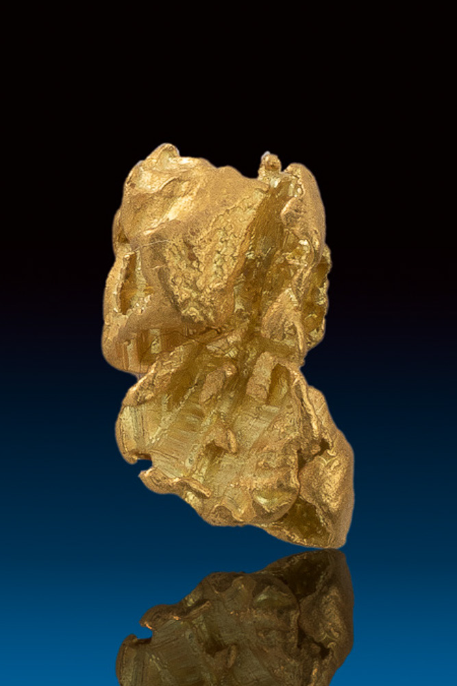 Brilliant Gold Nugget from Eugene Mountains, Nevada