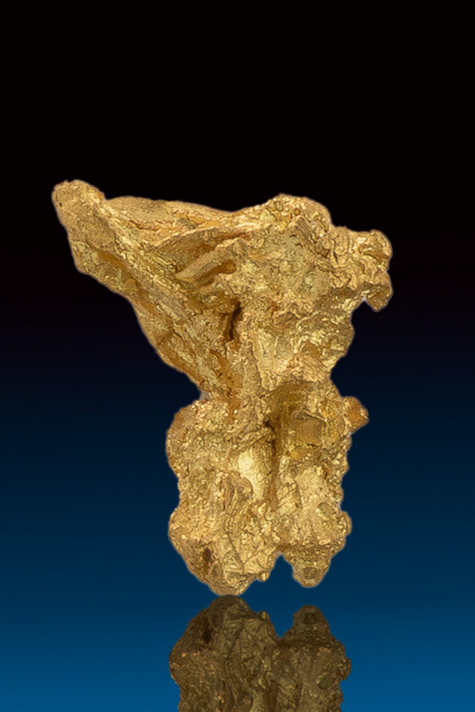 Brilliant Well Formed Natural Gold Nugget from Nevada