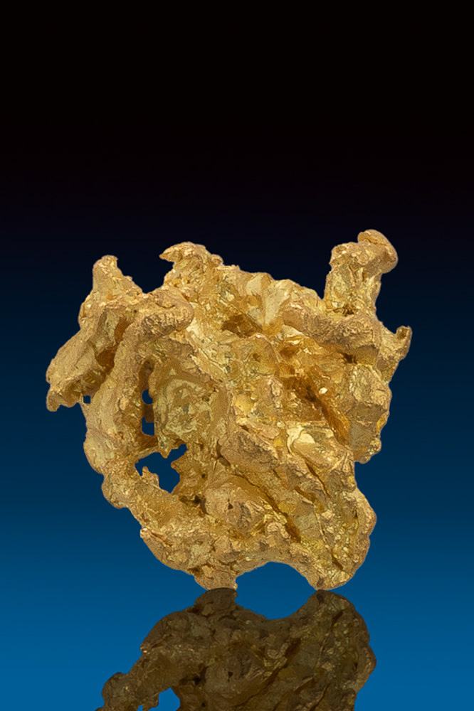 Intricate and Shiny - Natural Gold Nugget from Nevada