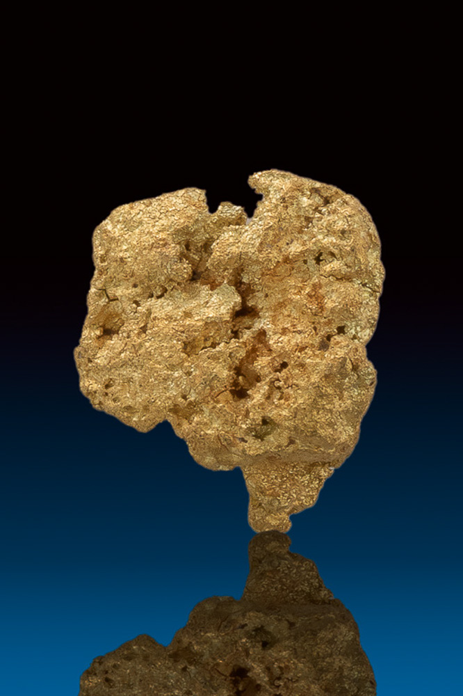 """Heart Shaped"" Chunky and Crusty Natural Gold Nugget from Nevada"