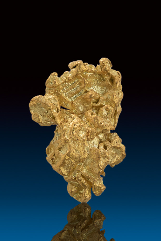 Shiny Eroded Crystals - Natural Gold Nugget from Nevada