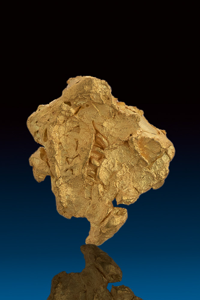 Shiny and Chunky Natural Gold Nugget - Eugene Mtns.