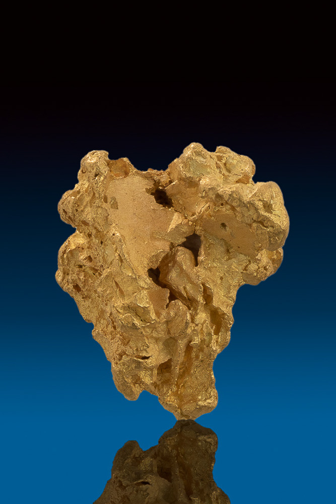 Superb Large and Chunky Natural Gold Nugget from Nevada