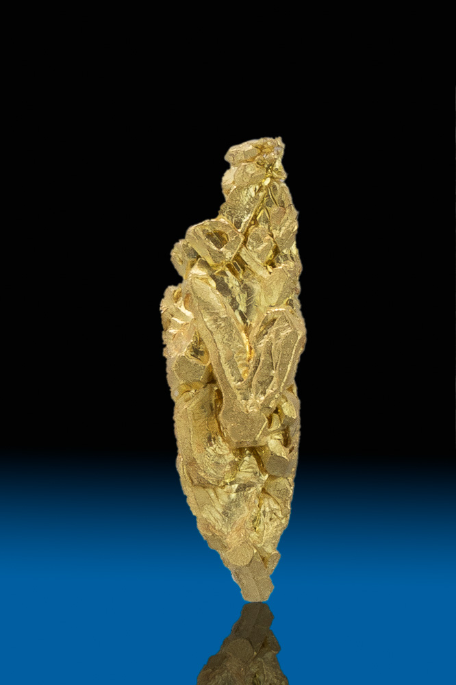 Elongated Natural Gold Crystal - Mt. Kare, Papua New Guinea