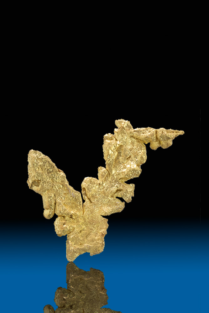 Intricate Natural Gold Crystal - Mt. Kare, Papua New Guinea