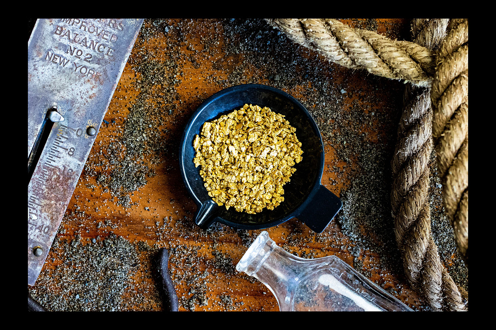 Rose Creek, Nevada - 3 Grams of Exceptionally Pure Gold Nuggets