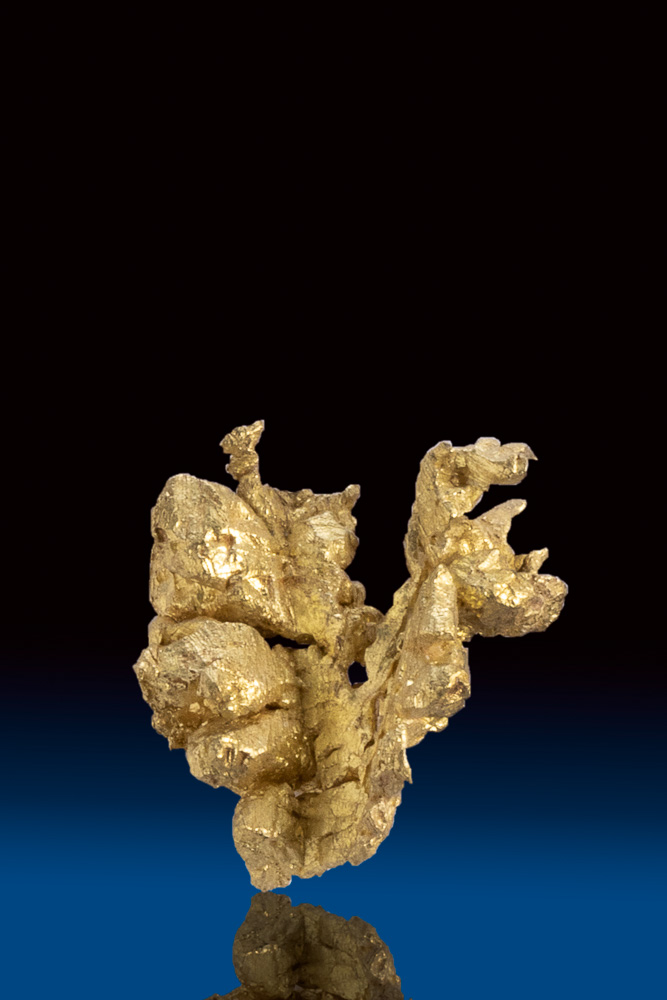 Uniquely Shaped Natural Gold Crystal Nugget - Mariposa County