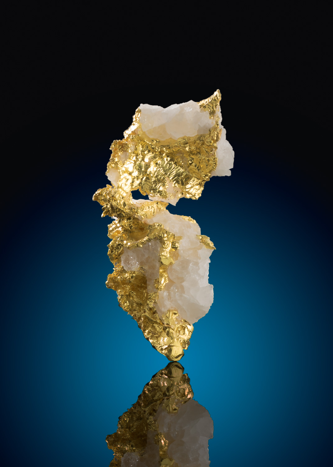 Sharp Yellow Crystalline Gold in Quartz - Mariposa County, CA